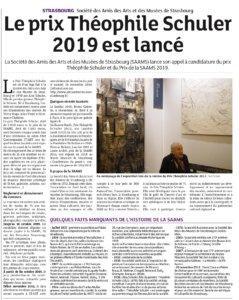 L'appel à candidature du Prix Théophile Schuler 2019 va être lancé