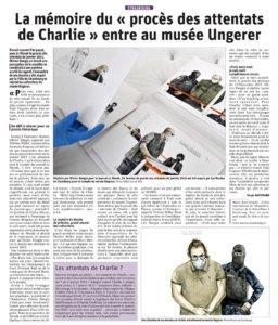"""La mémoire du """"procès des attentats de Charlie"""" entre au musée Tomi Ungerer"""